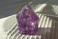 Amethyst -Spitze</br>  </br>   H:4,5cm</br>   Art.Nr.00AS01</br></br>     €   21,00